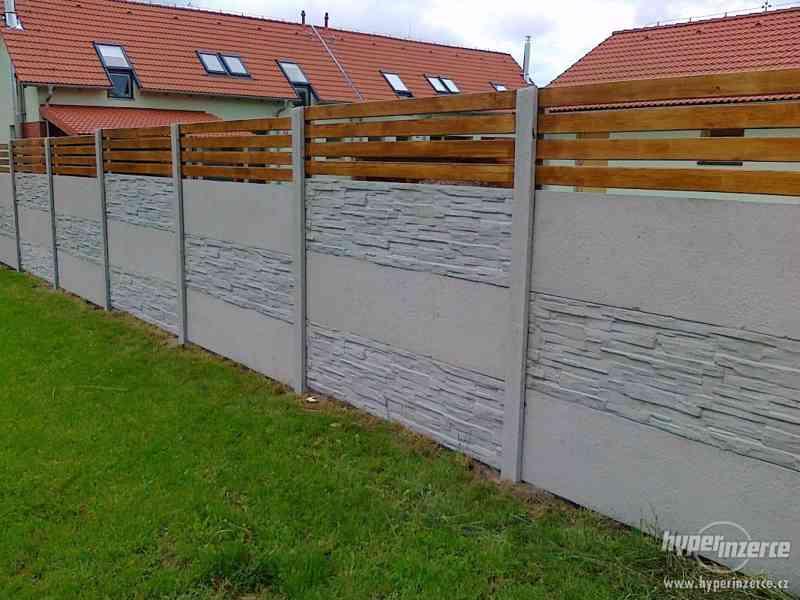 montáž betonových plotů - foto 4