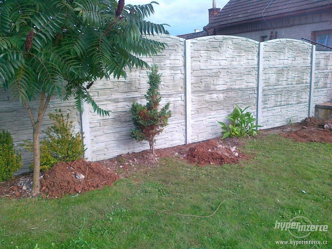 montáž betonových plotů - foto 1