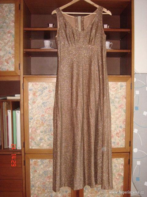 Prodám dámské plesové lurexové šaty