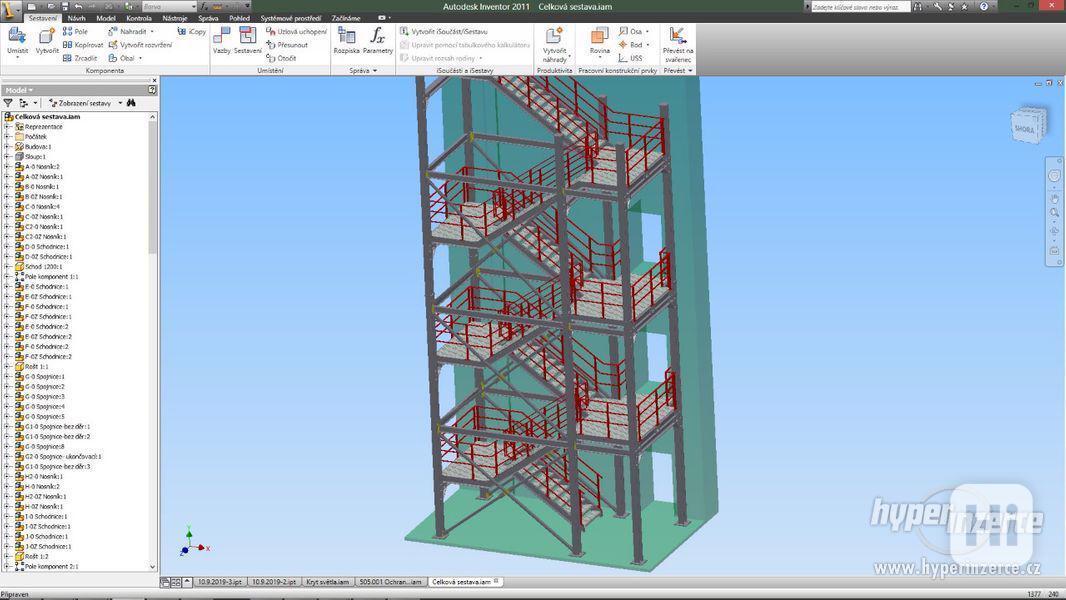 Nabízím zpracování technické, výrobní dokumentace + 3D model
