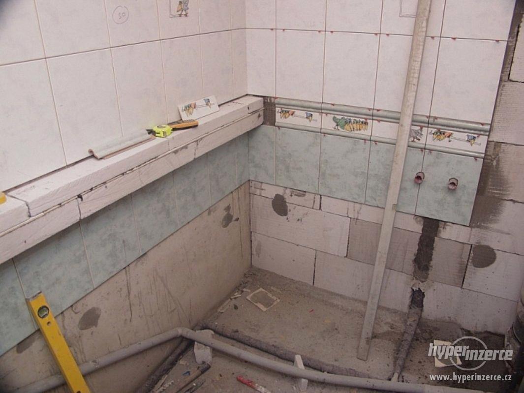 vodařské topenářské zednické práce - foto 1