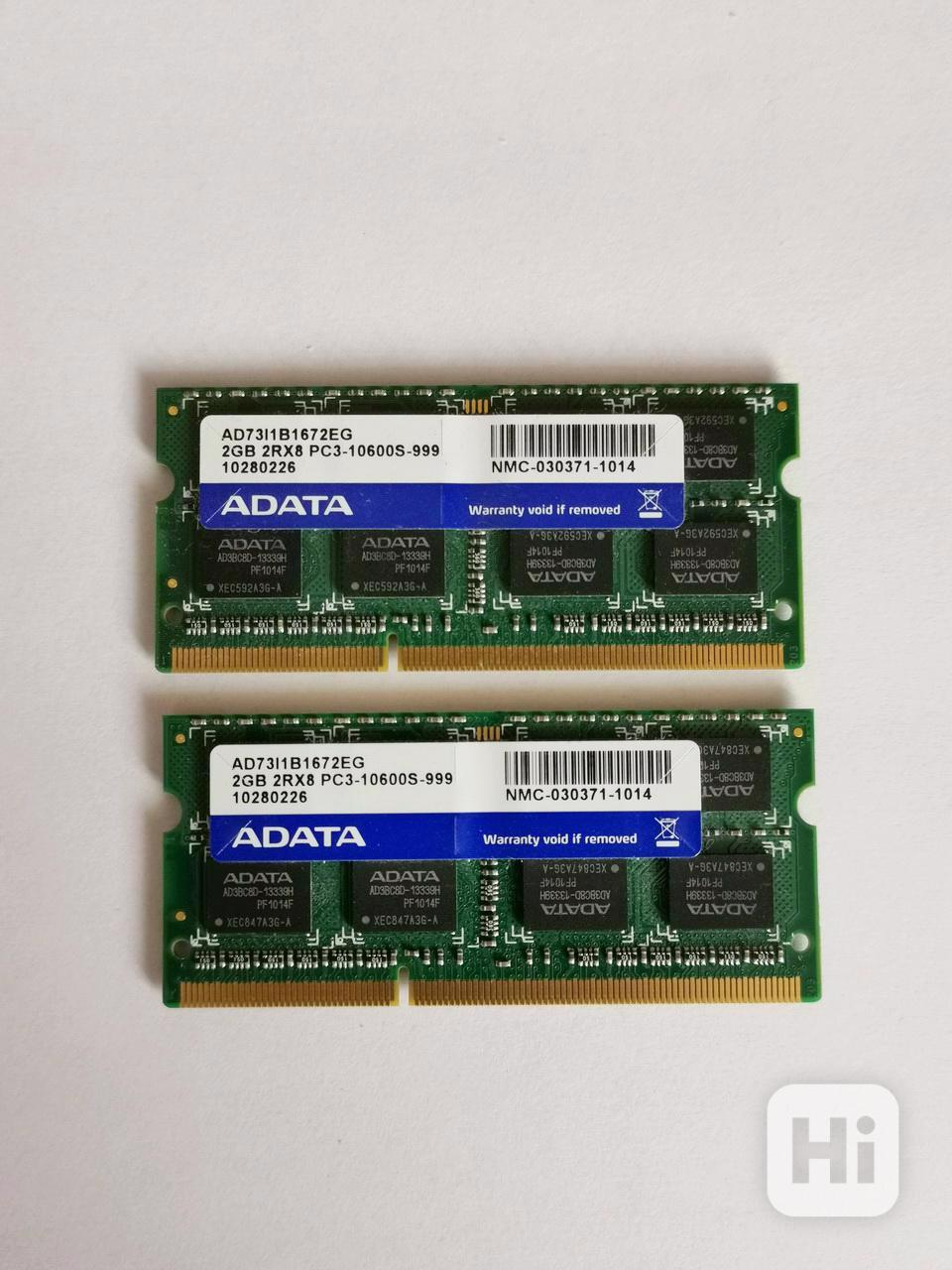 2x2GB SODIMM DDR3 PC3-10600 1333MHz 4GB kit paměť - foto 1