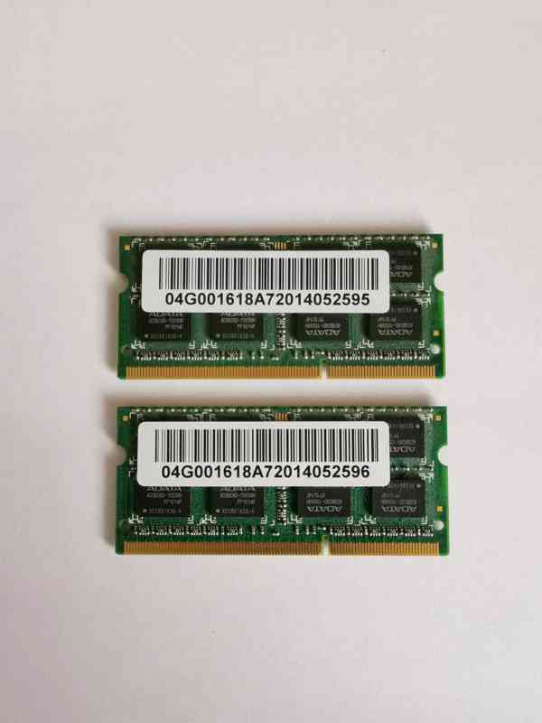 2x2GB SODIMM DDR3 PC3-10600 1333MHz 4GB kit paměť - foto 2