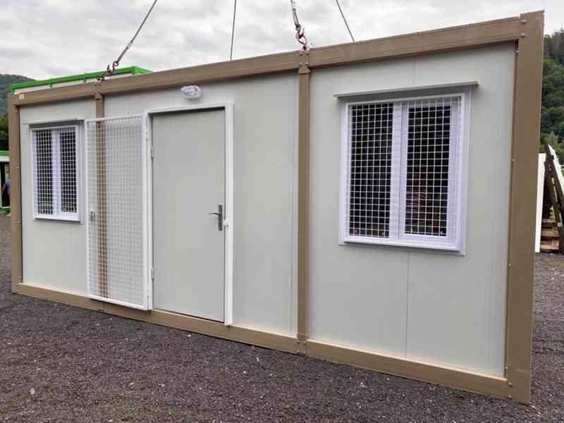 Obytná buňka 240x600 cm, včetně mříží na okna i dveře  - foto 4