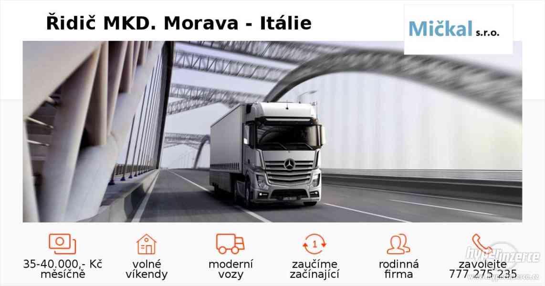 Řidič MKD ČR - Itálie