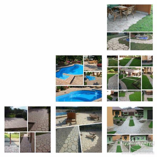 Betonová dlažba v imitaci kamenů - foto 2