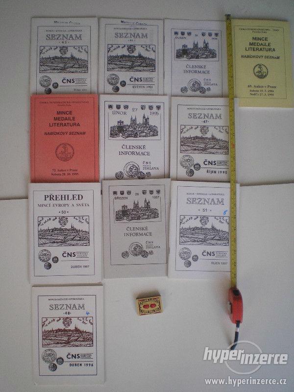Prodám numismatickou knihy