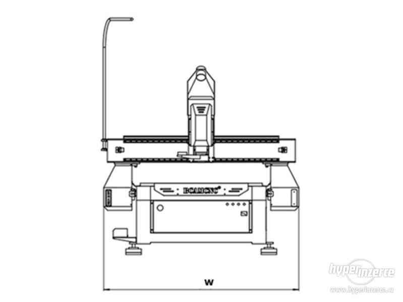 CNC průmyslová frézka INDUSTRY F1530-3K (1500x3000) - foto 3