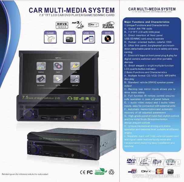AUTORÁDIO S DVD s  GPS MP3+KARTA+USB+dálkový ov - foto 2