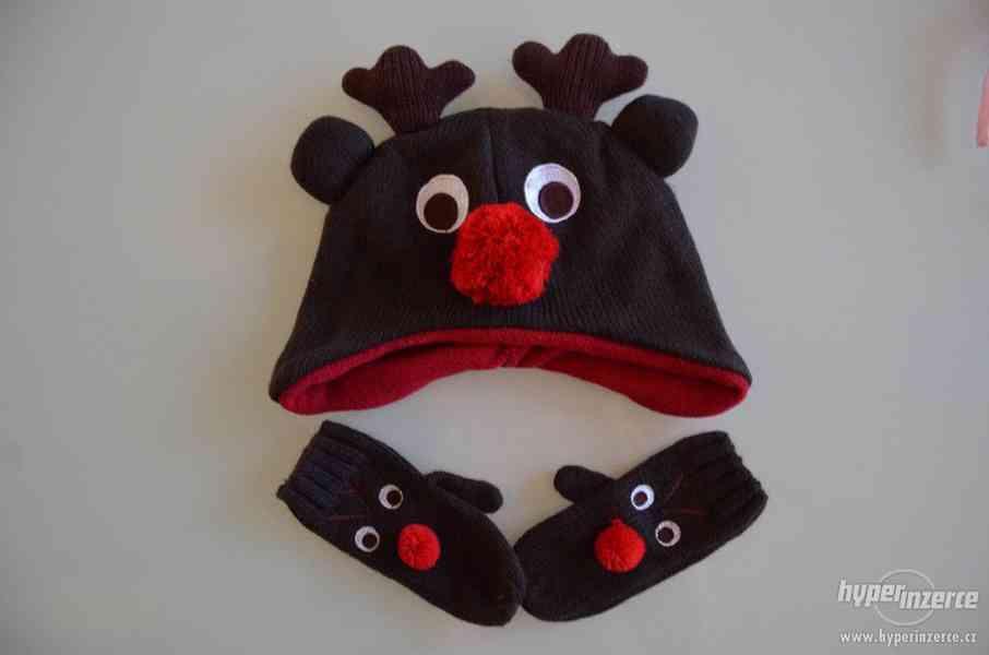 Zimní set: čepička + rukavičky