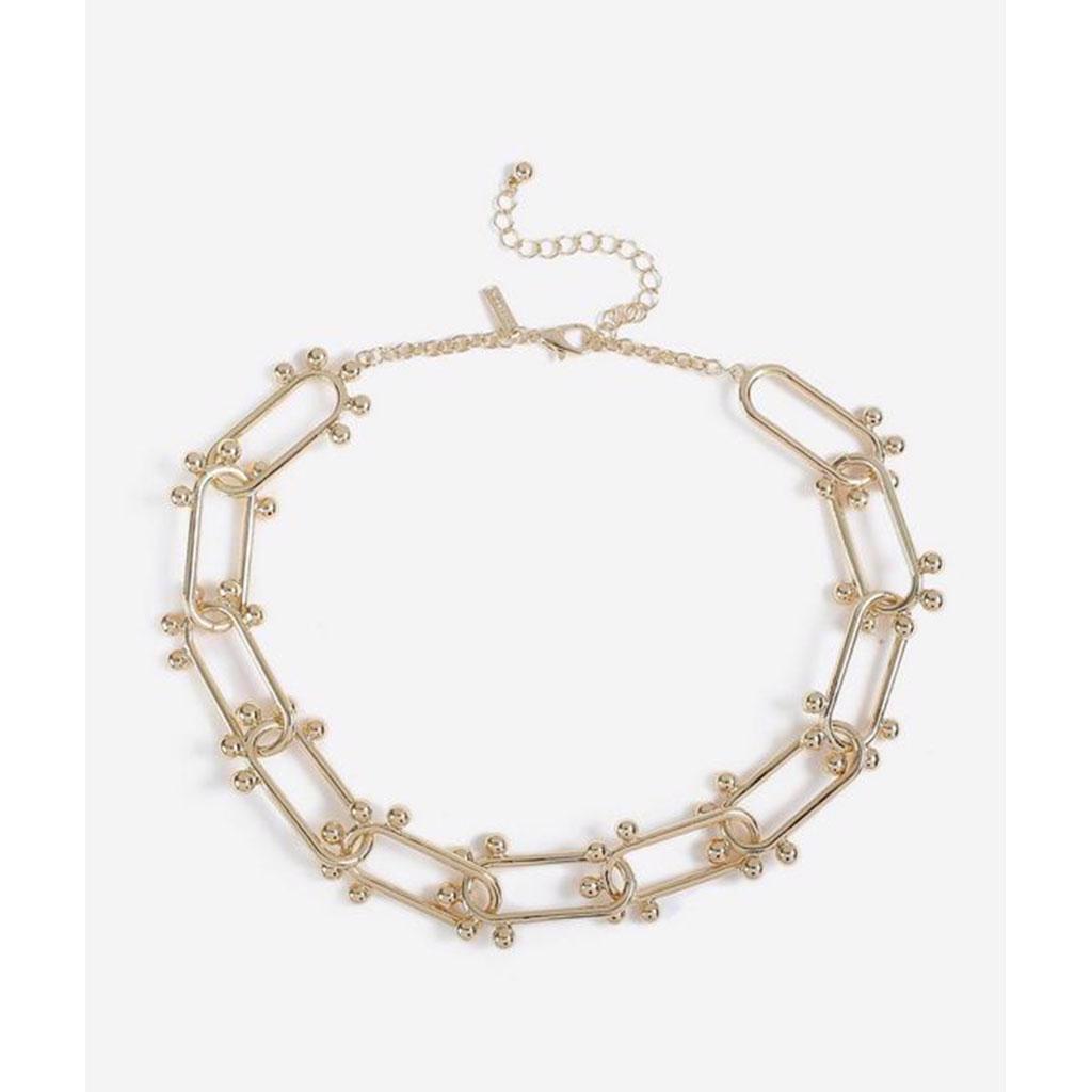 Topshop - Límcový náhrdelnik s ovalnými články s kuličky Vel - foto 1