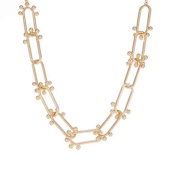 Topshop - Límcový náhrdelnik s ovalnými články s kuličky Vel - foto 3