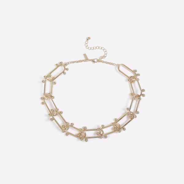 Topshop - Límcový náhrdelnik s ovalnými články s kuličky Vel - foto 2