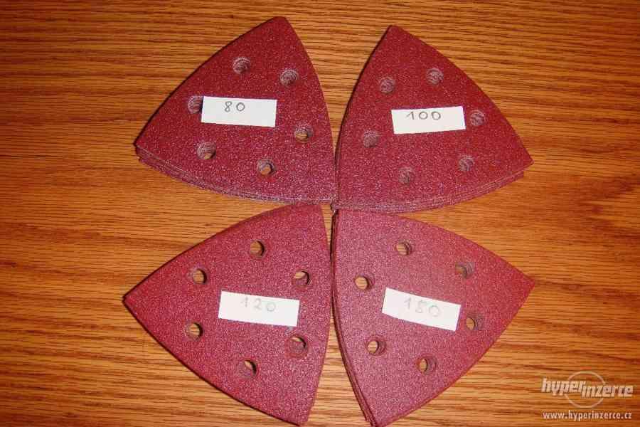 prodam brusné papíry KLINGSPOR červené za 10kč - foto 1