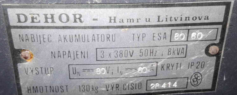 Nabíječ akumulátoru ESA 80/60 (10287.) - foto 7