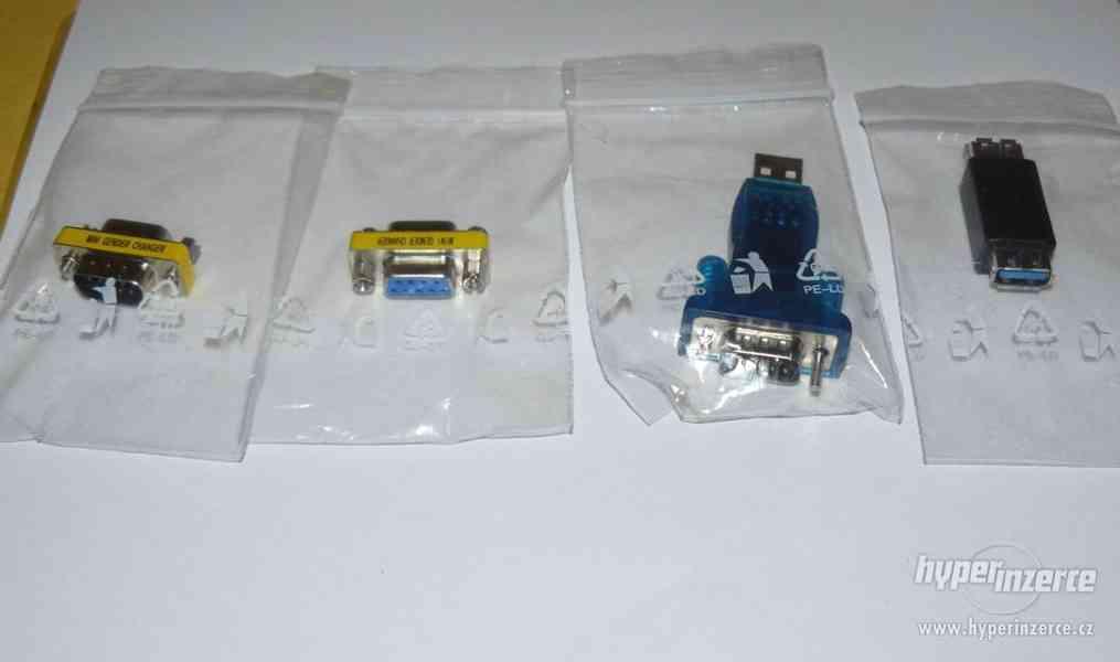 USB porty, redukce k PC (sada 4 ks) NOVÉ - foto 1