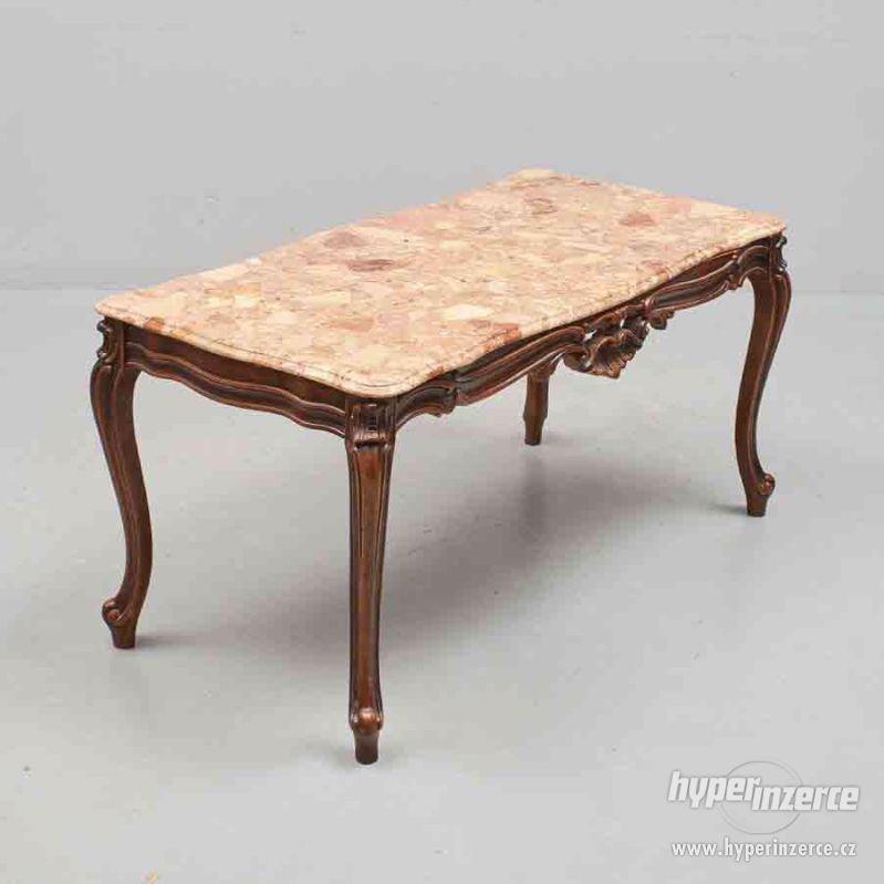Konferencni stolek s mramorem - foto 1