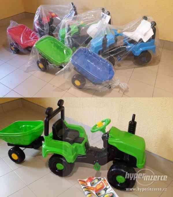 Nový Dětský Traktor + Vlečka ( Možnost Dopravy ZDARMA )