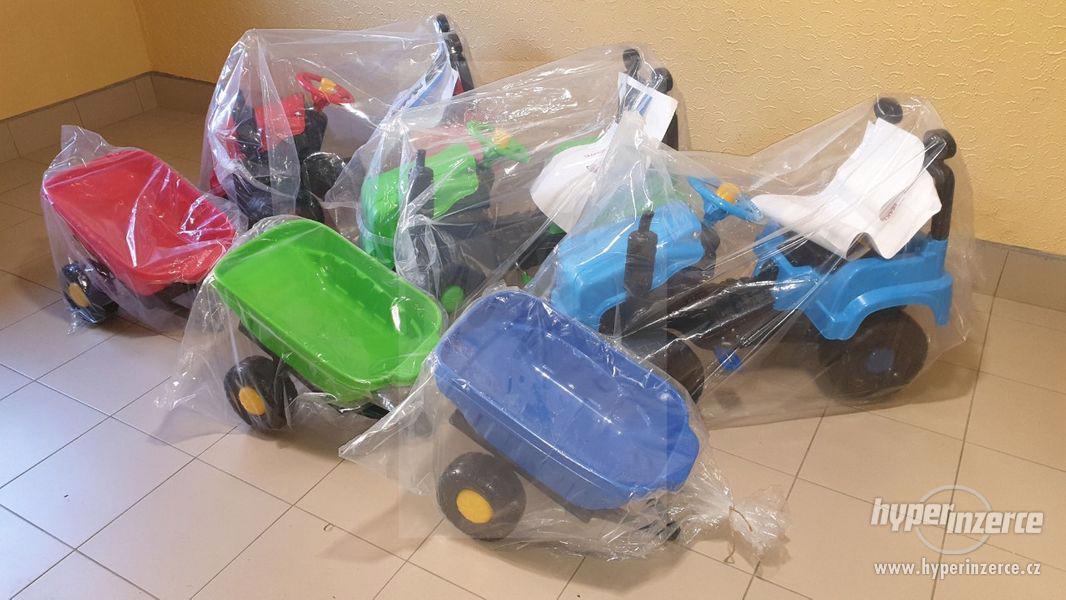 Nový Dětský Traktor + Vlečka ( Možnost Dopravy ZDARMA ) - foto 2