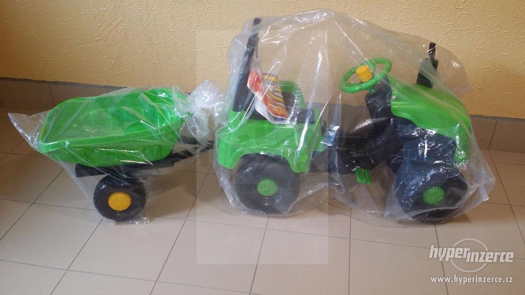 Nový Dětský Traktor + Vlečka ( Možnost Dopravy ZDARMA ) - foto 4