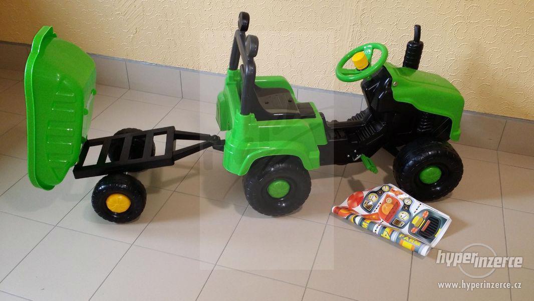 Nový Dětský Traktor + Vlečka ( Možnost Dopravy ZDARMA ) - foto 6