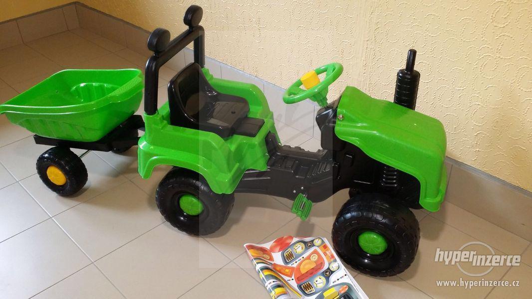Nový Dětský Traktor + Vlečka ( Možnost Dopravy ZDARMA ) - foto 7