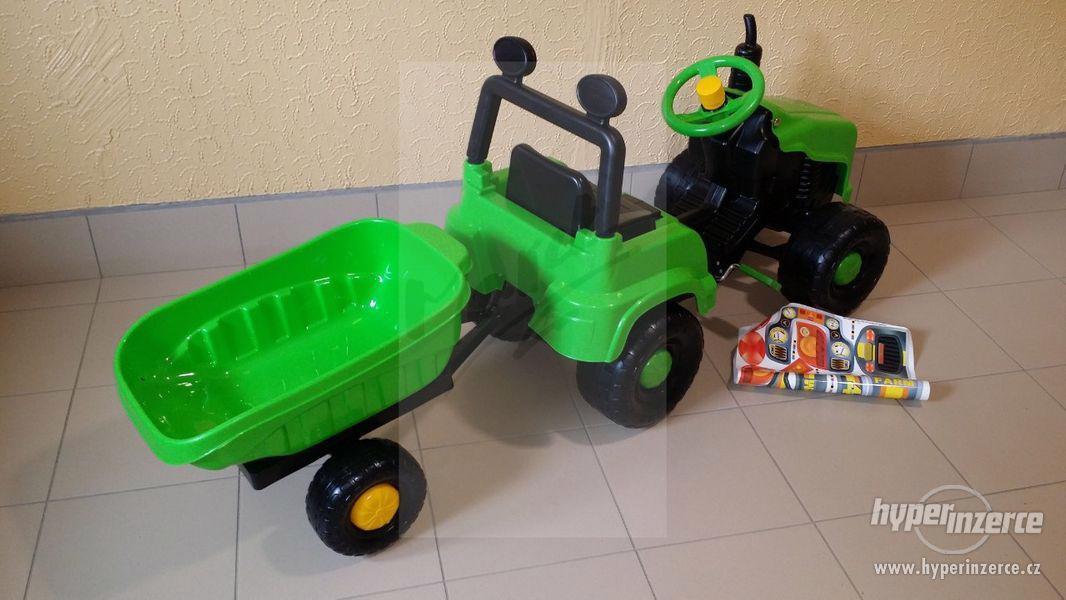 Nový Dětský Traktor + Vlečka ( Možnost Dopravy ZDARMA ) - foto 8