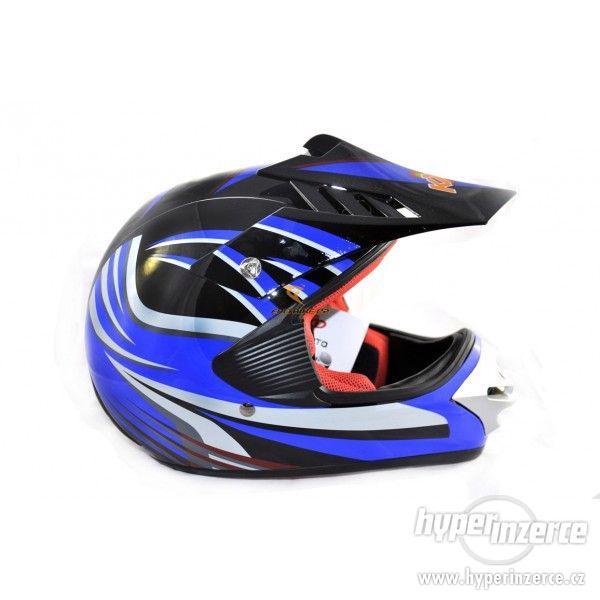 Dětská moto helma krossová dětská moto přilba cross