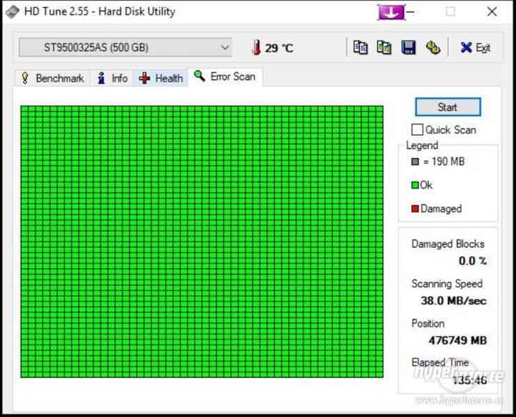 HDD do NB Seagate Momentus ST9500325AS 500GB 5400ot SATA II - foto 3