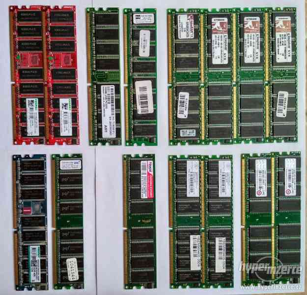 SoDIMM a DIMM DDR3, DDR2 a DDR1 do notebooku a PC - foto 2