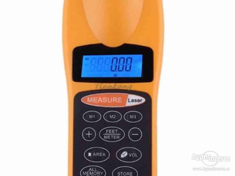 Ultrazvukový měřič vzdálenosti s laserovým zaměřovačem / dál