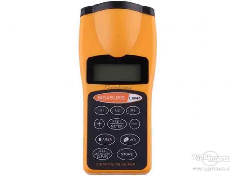 Ultrazvukový měřič vzdálenosti s laserovým zaměřovačem / dál - foto 2