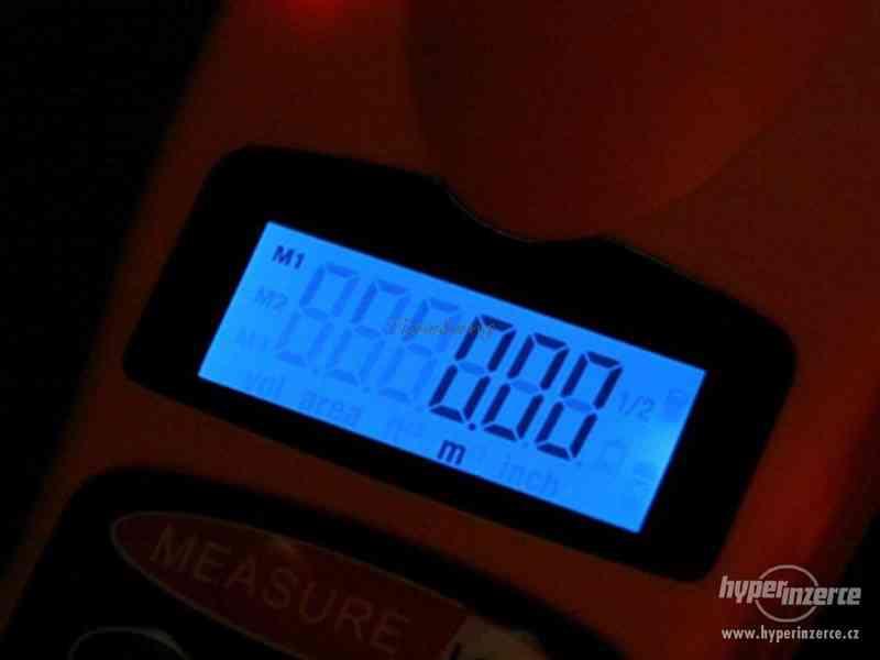 Ultrazvukový měřič vzdálenosti s laserovým zaměřovačem / dál - foto 4