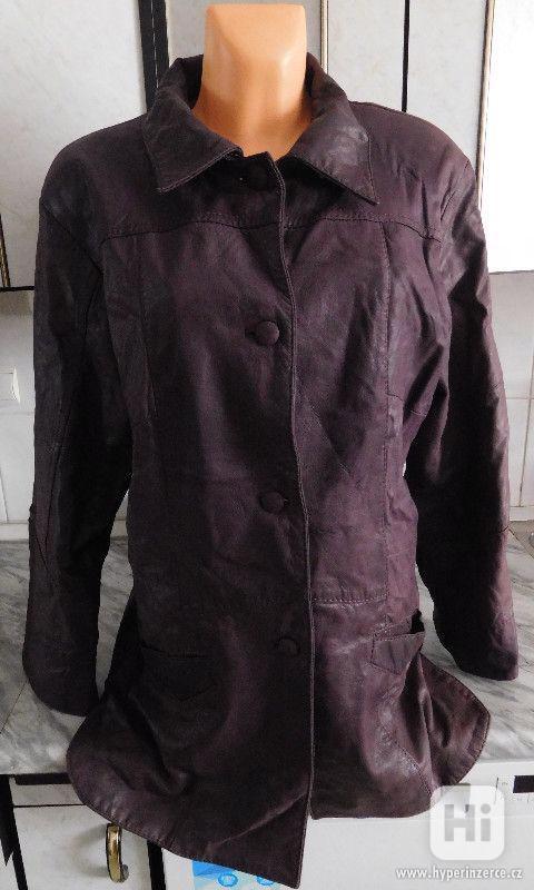 kvalitní delší kožená dámská bunda - foto 1