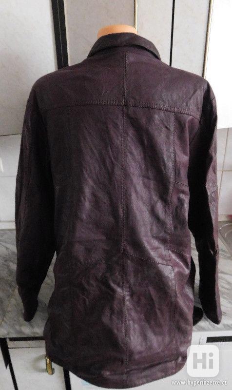 kvalitní delší kožená dámská bunda - foto 2