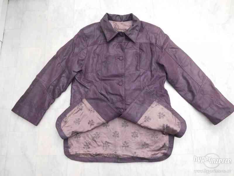 kvalitní delší kožená dámská bunda - foto 4