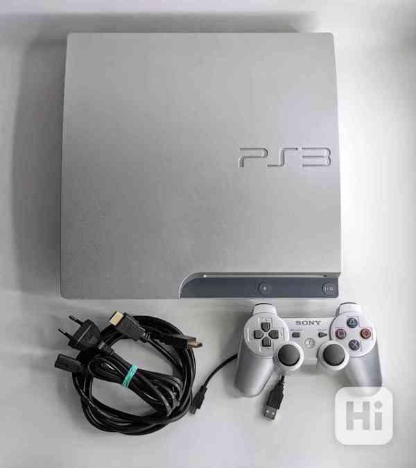 Playstation 3, stříbrná, 320GB - foto 1