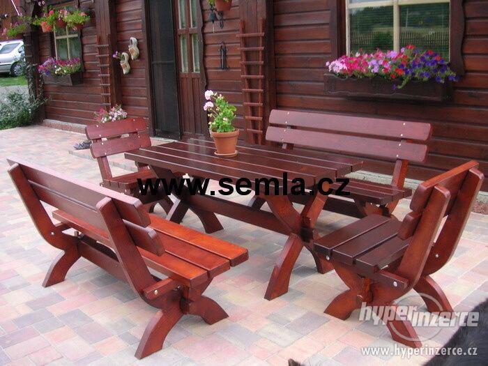 Masivní zahradní nábytek -  4,6 cm síla materiálu