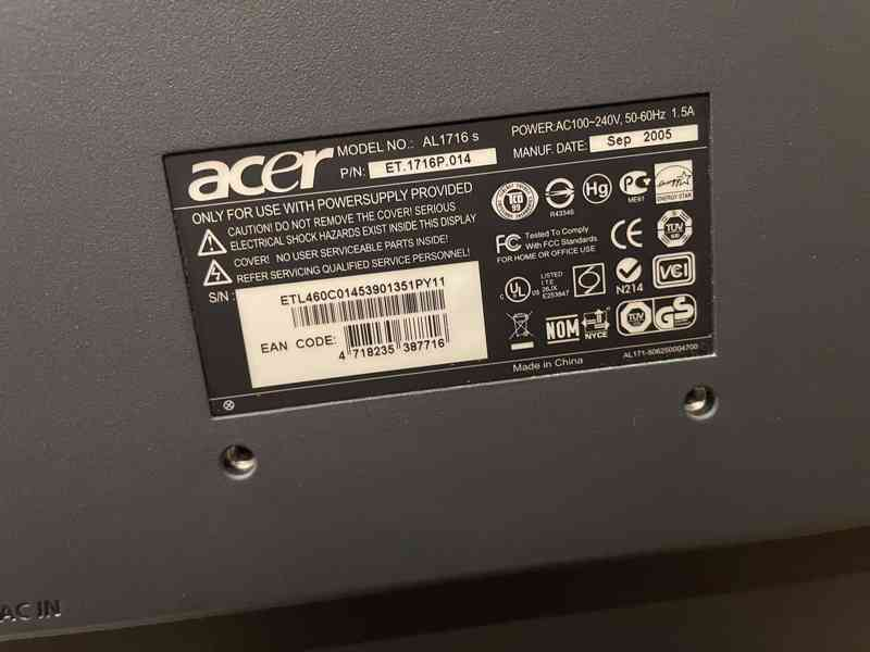 Acer AL1716 - foto 5