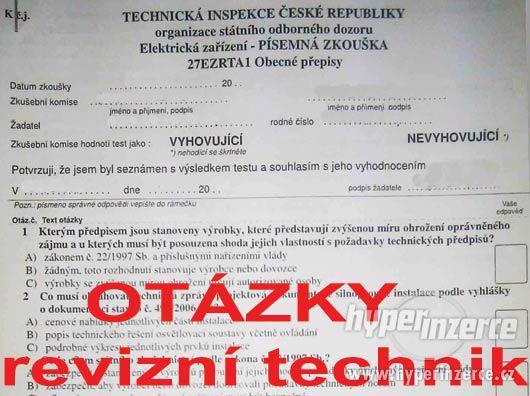 NOVE vypracované otázky revizní technik elektro R-EZ-E2A - foto 1