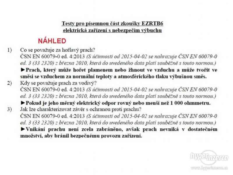NOVE vypracované otázky revizní technik elektro R-EZ-E2A - foto 2