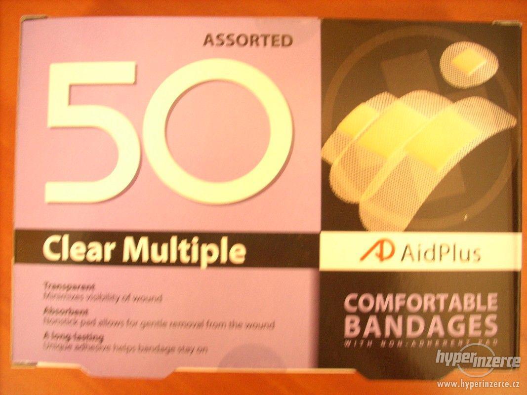AidPlus náplast transparentní 50 ks MIX - foto 1