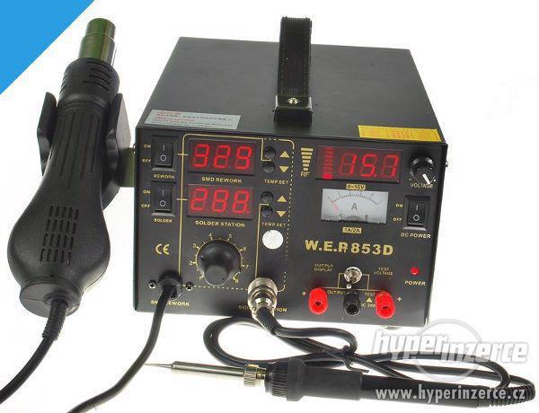 Pájecí stanice WEP 853D 5in1 , 3x display LED - foto 1