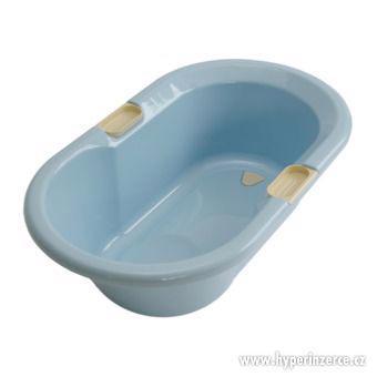 Koupací vanička tvarovaná s výpustí modrá