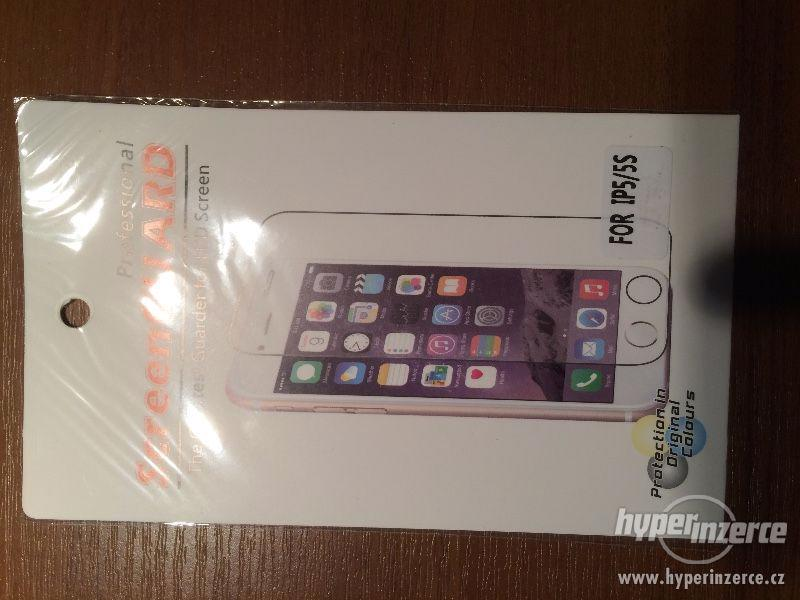 iphone 5, 5s screen protector ochranná folie předek + zadek