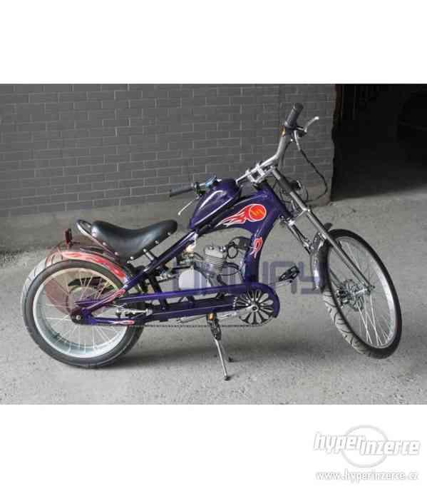 Moto kolo Chopper 80cc modré nové zabalené mohu poslat