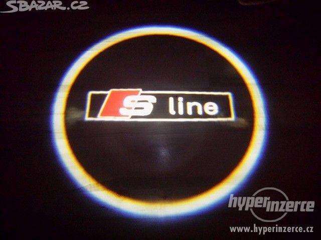 NOVE LEd osvětlení dveří AUDI SLINE logo