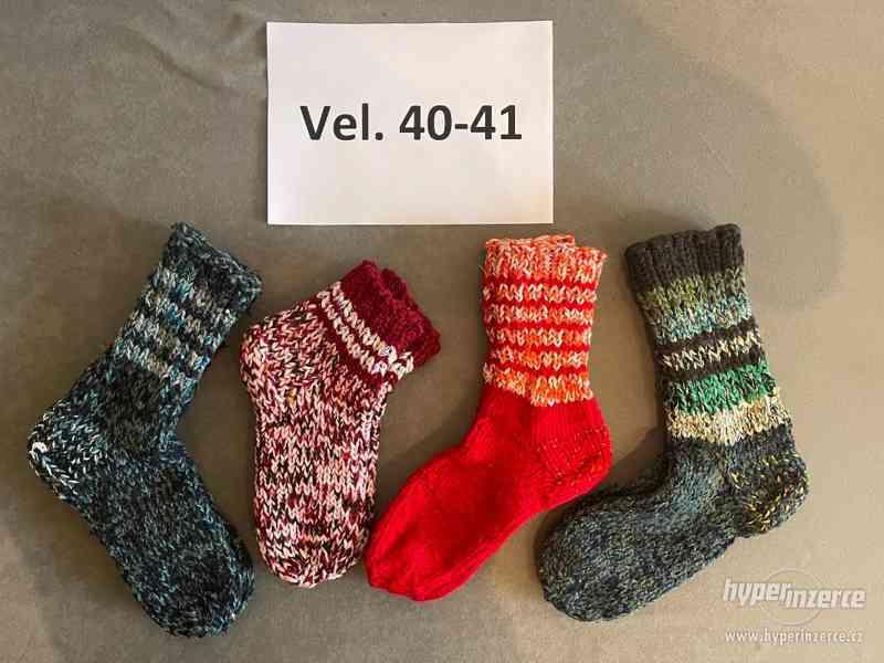 Pletené vlněné ponožky - foto 4