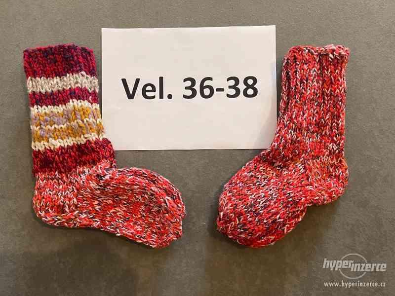 Pletené vlněné ponožky - foto 5