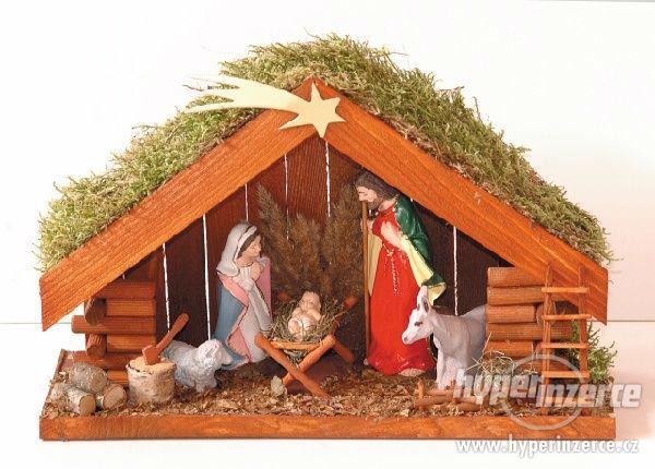 vánoční dřevěný betlém č. 13035